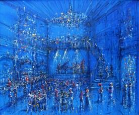 Jazzamoart, Una noche en el Mar del Norte, 2014, Óleo sobre tela, 140 x 170 cm