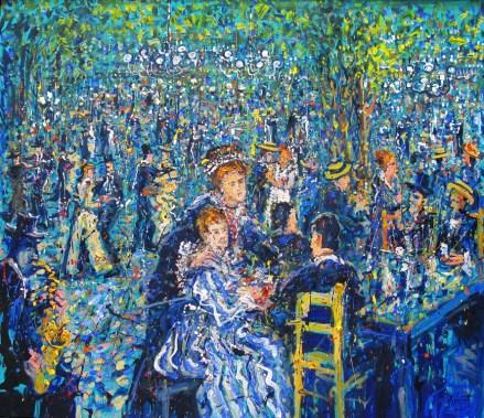 Jazzamoart, Una tarde con Renoir, 2015, Óleo sobre tela, 120 x 140 cm