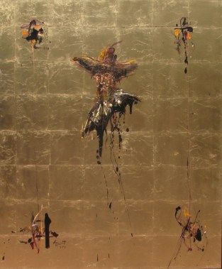 Jazzamoart, Van Gogh como Rembrandt, 2014, Óleo sobre tela, 120 x 100 cm