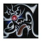 Isz, Kosmic KLOWN  Óleo y acrílico sobre tela, 30 x 30 cm
