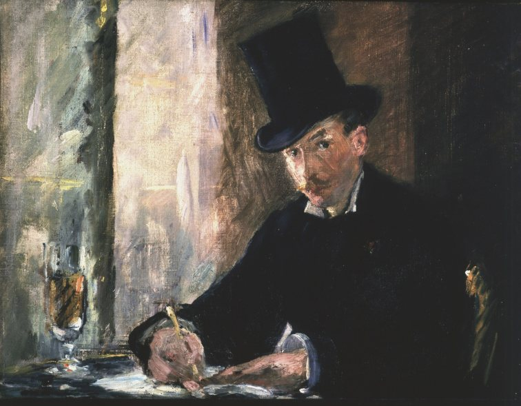 "Manet's oil on canvas ""Chez Tortoni"" (1878-80) is shown in a handout photo provided by the Isabella Stewart Gardner Museum in Boston, Massachusetts, March 18, 2013. The painting is included on a list of several works of art stolen from the museum which experts estimate at $300 million in a brazen robbery on March 19, 1990. The FBI plans to reveal new information about one of the city's longest-running crime mysteries. REUTERS/Gardner Museum/Handout (UNITED STATES - Tags: CRIME LAW ENTERTAINMENT SOCIETY) NO SALES. NO ARCHIVES. FOR EDITORIAL USE ONLY. NOT FOR SALE FOR MARKETING OR ADVERTISING CAMPAIGNS. THIS IMAGE HAS BEEN SUPPLIED BY A THIRD PARTY. IT IS DISTRIBUTED, EXACTLY AS RECEIVED BY REUTERS, AS A SERVICE TO CLIENTS"