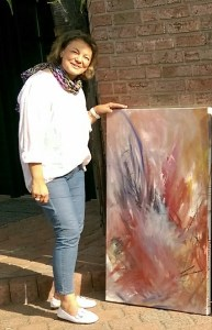 Die Kunstmalerin Jutta Dammers-Plaßmann ist neues Mitglied der Mülheimer Künstlergemeinschaft in der Galerie an der Ruhr, Ruhrstr. 3