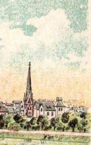 """Die """"Ruhranlage"""" der Stadt Mülheim mit der Villa Nedelmann (unmittelbar dahinter ist das Stammhaus der Tengelmann-Gründerfamilie Schmitz-Scholl in der Ruhrstraße 3"""