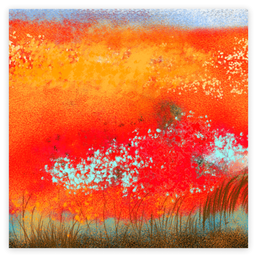 First image of 'Causse-licot'. The fragile poppy gives us a lesson in solidarity. By joining its fellows in large numbers, the meadows ignite and the strength of its red is no longer to be discussed. artist: Anne Turlais - Signed Limited edition of 300. Printed on Dibond.
