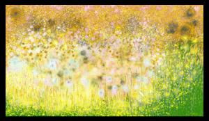"""""""Secret de jardin"""" d'Anne Turlais, l'une des œuvres les plus précieuses de la nouvelle collection, est une œuvre originale signée par l'artiste. Avec ses nuances subtiles et délicates et une atmosphère poétique qui nous rappelle un poème de la nature."""