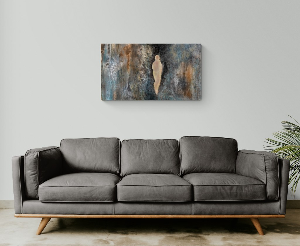 Second image of 'Within the Rock'. Within the Rock is an original and contemporary art-piece created by Anne Turlais, an artist living in the South of France. For this project, Anne has chosen to draw inspiration from the cliff of her favorite region, Occitania.