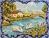 fresque carrelage mural exterieur