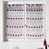 rideaux cuisine rouge galerie creation