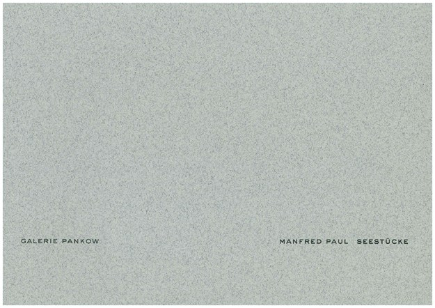 Manfred Paul Seestücke Cover
