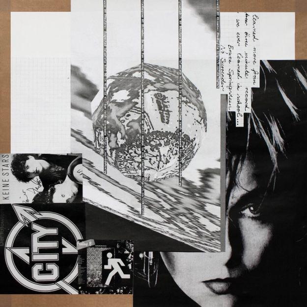 """Klaus Killisch """"Keine Stars"""" 2016, Collage, 50x50cm"""