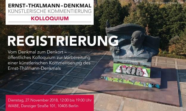 öffentliches Kolloquium Thälmann-Denkmal