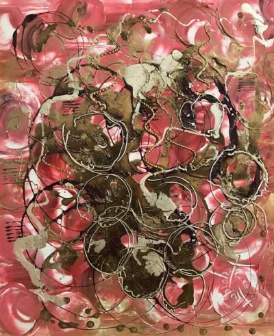 Bulles, peinture de Corinne Trabichet