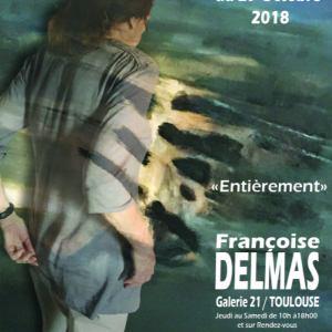 Affiche Françoise Delmas Septembre 2018 Galerie 21 Toulouse