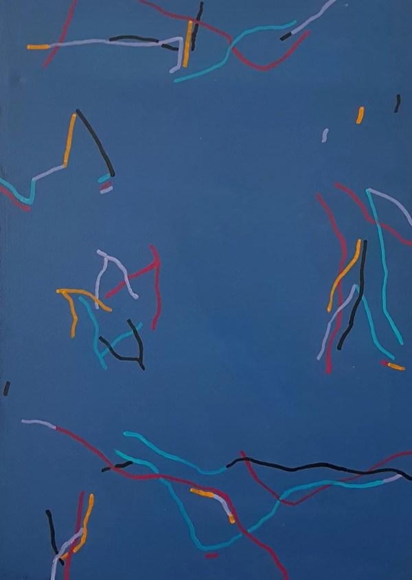 Bleu lacets vifs Bruetschy François Galerie 21