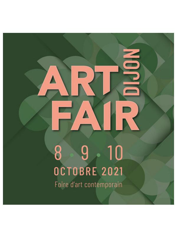 affiche art fair dijon salon international d'art contemporain