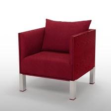 Boréal collection, armchair, Framboise (raspberry)