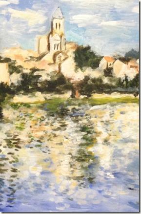 Claude Monet paysage vertheuil détail