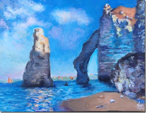 falaise d'Etretat Claude Monet