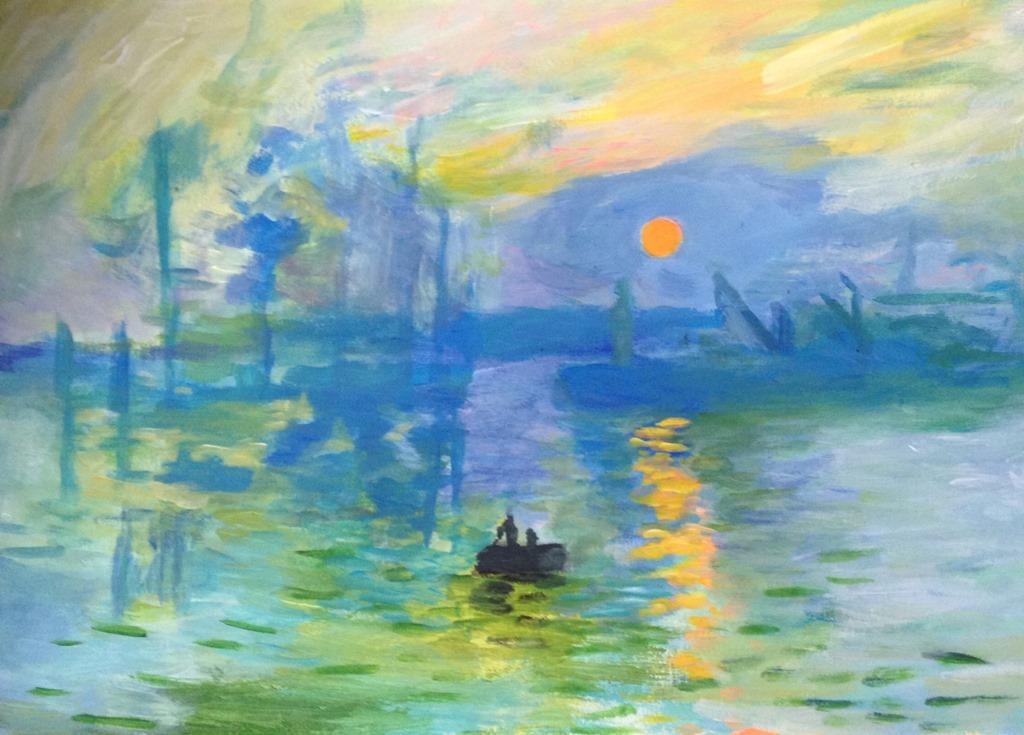 Toile N 8 Impression Soleil Levant Claude Monet L Art De La Peinture Etape Par Etape