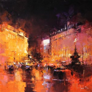 Nuit sur Piccadilly circus
