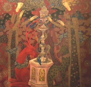 The Holy Grail Legend, 122x127cm, oil on canvas,