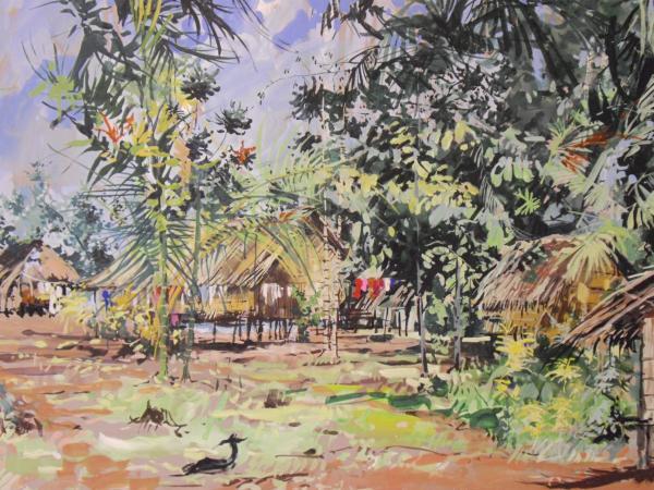 Michel BELLION - Village mélanésien