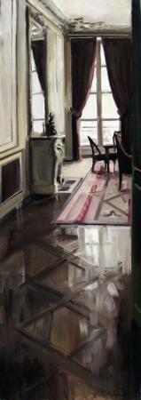 Christoff DEBUSSCHERE - Chez l\'écrivain 150 x 50 cms dispo a la galerie été 2010