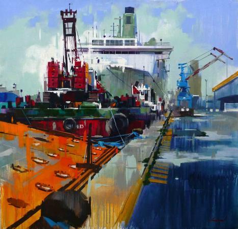 Yong-Man KWON - Grues et cargo à Nazaire