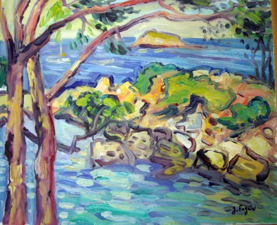 Gerard FAGARD - Pins et rochers à Bandol