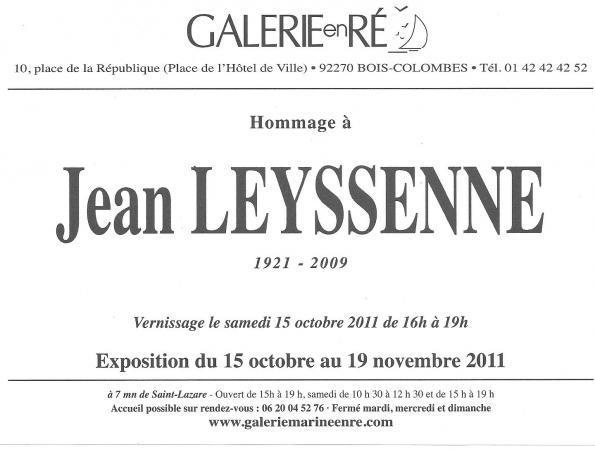 Jean LEYSSENNE - Carton invitation 2011