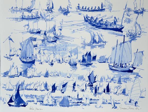 Ronan OLIER - Encre voiliers et aviron 2012