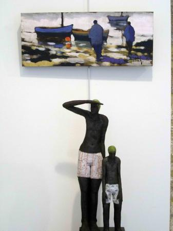 Pont-L'Abbé 2012 - Peinture d'Olivier Suire -Verley et raku de Sylvie du Plessis