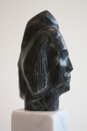 Pont-L'Abbé 2012 - Sylvie Koechlin sculpture sur pierre