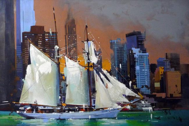 Yong-Man KWON - Les voiles blanches