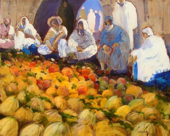Olivier SUIRE-VERLEY - 12 marché aux pastèques 114x146