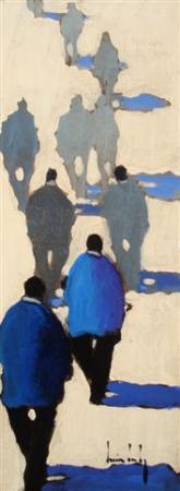 Olivier SUIRE-VERLEY - 12 Balade bleue 40x15