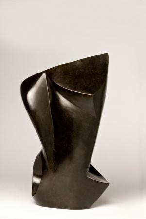 Nathalie MIQUEL AUBERT - les bibis bronze patiné 23x18x 38 cms