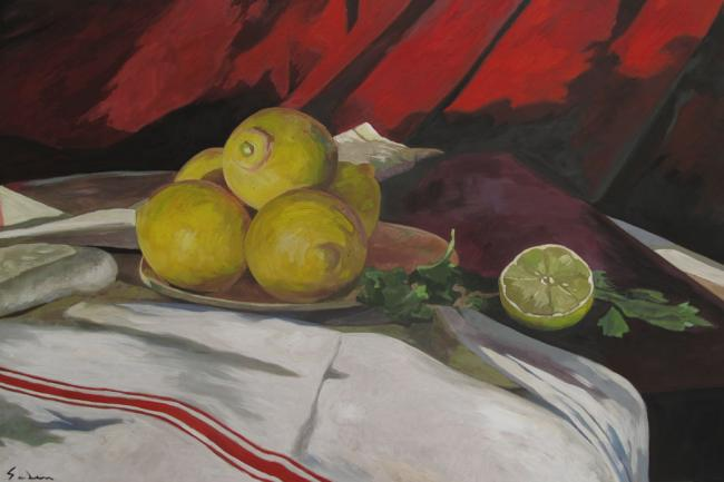 Jacques GODIN - 13 nature morte aux citrons 50X65