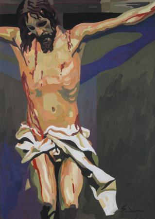Jacques GODIN - 13 Crucifixion 30X21