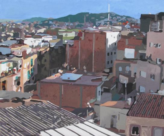 Jacques GODIN - 2016 Les toits de Barcelone (3) 25x31