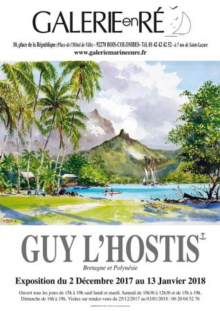 Guy LHOSTIS - 2017 Tahiti affiche