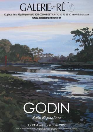 Jacques GODIN - 18 affiche expo Suite Bigoudène
