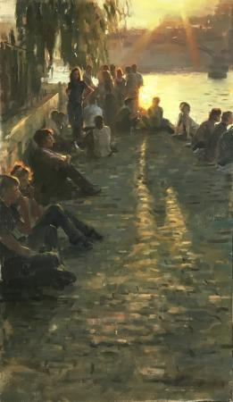 Aldo Balding - Pique-nique sur les quais de Seine