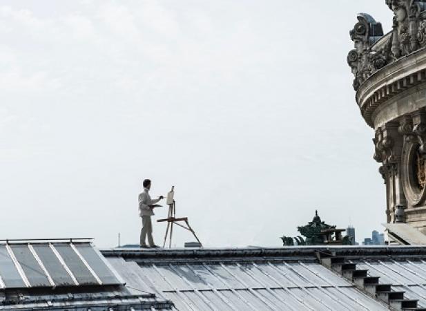 Olivier DESVAUX - Photo sur les toits de l'Opéra