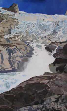 Jacques GODIN - 2020 Tasermiut 06, huile sur toile, 130 x 81 cm
