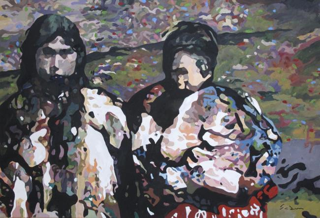 Jacques GODIN - 2020 Ulaakut kinauvit, gouache sur papier, 40 x 60 cm