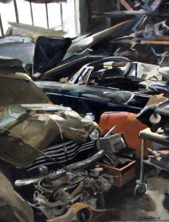Christoff DEBUSSCHERE - La 4 CV au garage