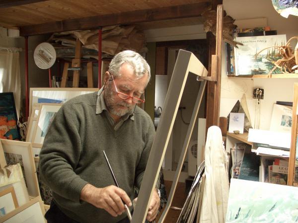 Michel BELLION - Michel Bellion dans son atelier