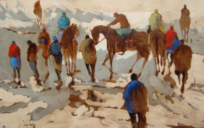 Olivier SUIRE-VERLEY - Les jockeys 73X116
