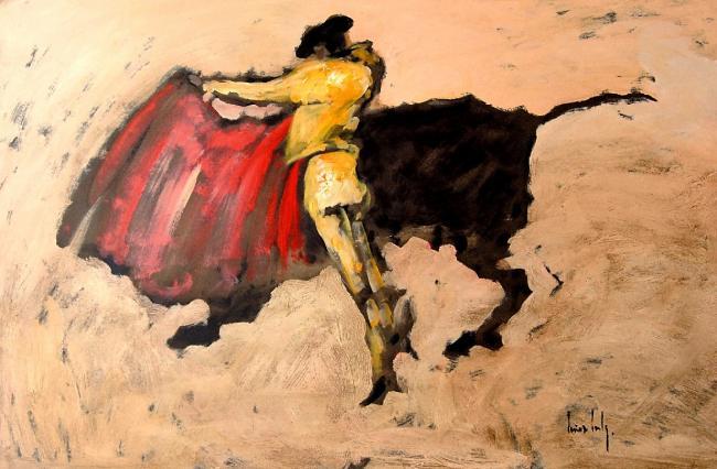 Olivier SUIRE-VERLEY - La corrida 80X120